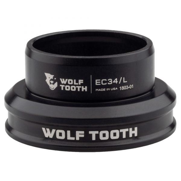 Wolf Tooth EC34/30 Premium – Jeu de direction à roulement externe cuvette basse Noir ou Argent