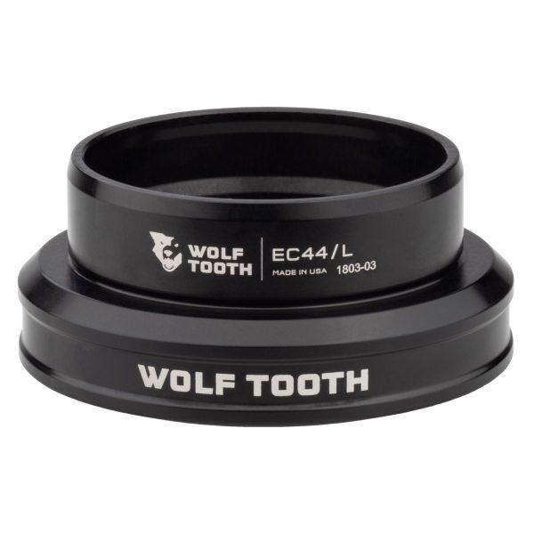 Wolf Tooth Premium EC44/40 – Jeu de direction à roulement externe cuvette basse Noir ou Argent